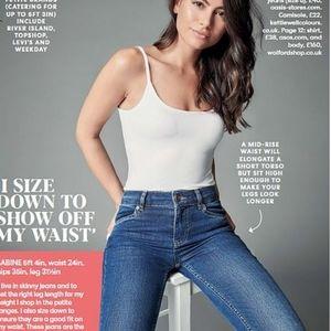 Acne Flex Wet Blue Stretch Denim Skinny Jeans